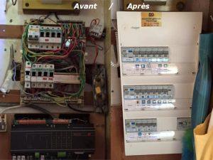 chantier électrique sur Paris 12