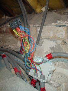 chantier electrique sur Mennecy